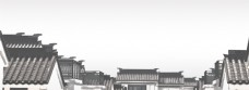 中国风水墨房顶banner背景