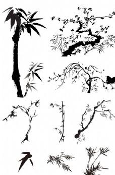 水墨中国风  竹
