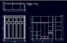 CAD衣柜源文件一字型