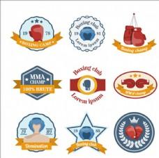 拳击比赛培训俱乐部标志