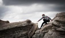 攀岩的女人