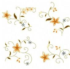 缠枝纹花朵