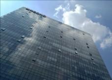 蓝天玻璃幕墙写字楼科技办公楼