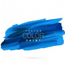 蓝色手油漆污点矢量设计