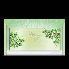 小清新浅绿色婚礼背景