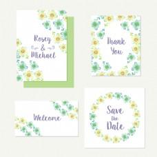 清新花卉卡片背景