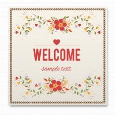 简约花卉设计卡片