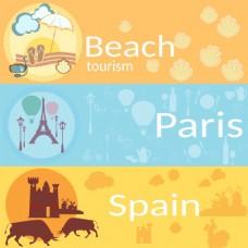 夏日沙滩party海报宣传设计矢量素材