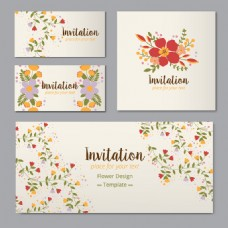 清新花卉卡片