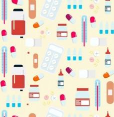医学背景颜色图标装饰设计免费矢量