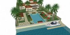 别墅泳池效果图