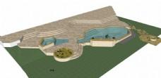 绿地泳池效果图