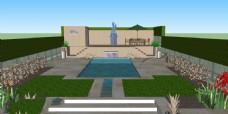 室外泳池图片