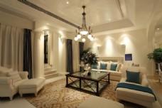 現代別墅客廳裝修效果圖