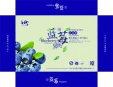 蓝莓箱子展开图