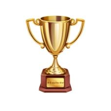 实物金色奖杯元素