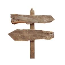 复古木头标语牌png元素