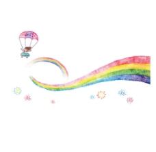 彩虹条png元素