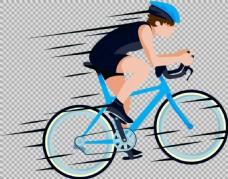 车手高速骑自行车免抠png透明图层素材