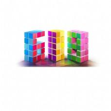 方格618艺术字体png元素