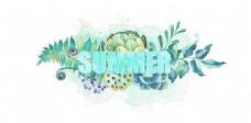 艺术字summer设计