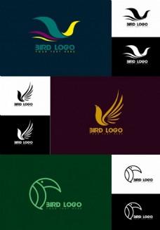 鸟类图标标志设计