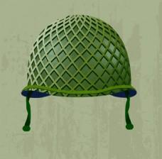绿色帽子矢量背景