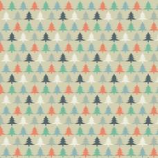 圣诞树卡通图案背景
