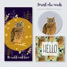 多种猫头鹰图案