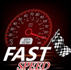 汽车比赛速度矢量背景