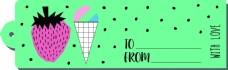 绿色波点吊牌夏天卡通创意矢量背景