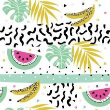 创意细化香蕉夏日拼贴素材