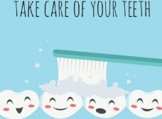 刷牙广告背景