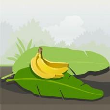 卡通香蕉背景图案