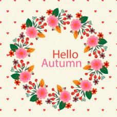 秋天花卉背景素材