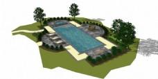 室外泳池效果图