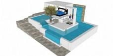 游泳池建筑效果图