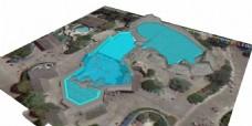 平面泳池效果图