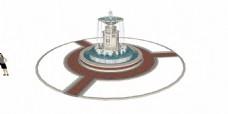 欧式圆环喷泉