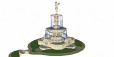 公园喷泉效果图