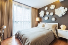 自然清新风格卧室设计图片