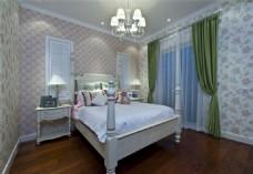 简约中式卧室装修效果图