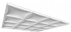简约现代白色电视背景墙skp模型