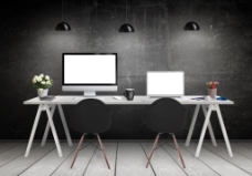 电脑桌装饰3D模型素材