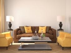 清新淡雅客厅设计图片