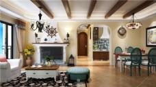 现代欧式客厅装修效果图