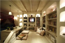 现代时尚书房装修效果图