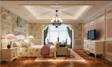现代时尚卧室家装效果图