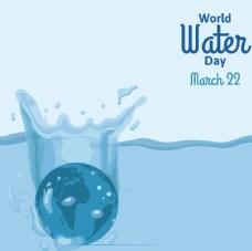 地球世界水日的背景