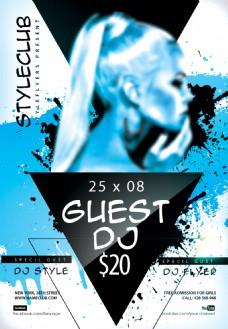 欧美DJ夜店派对活动海报